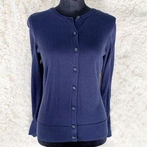 CROFT & BARROW Navy Button Down Sweater Cardigan